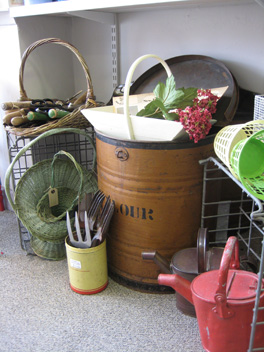Gardening time at Vintage Treasures